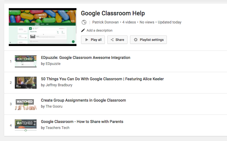 Creating a YouTube Playlist for Students   Donovanscience