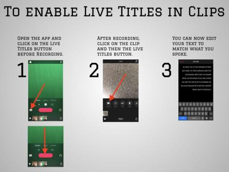 clips live titles directions